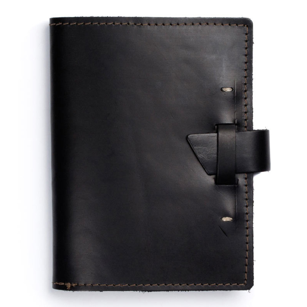 Rustico Wasatch Leather Journal Black