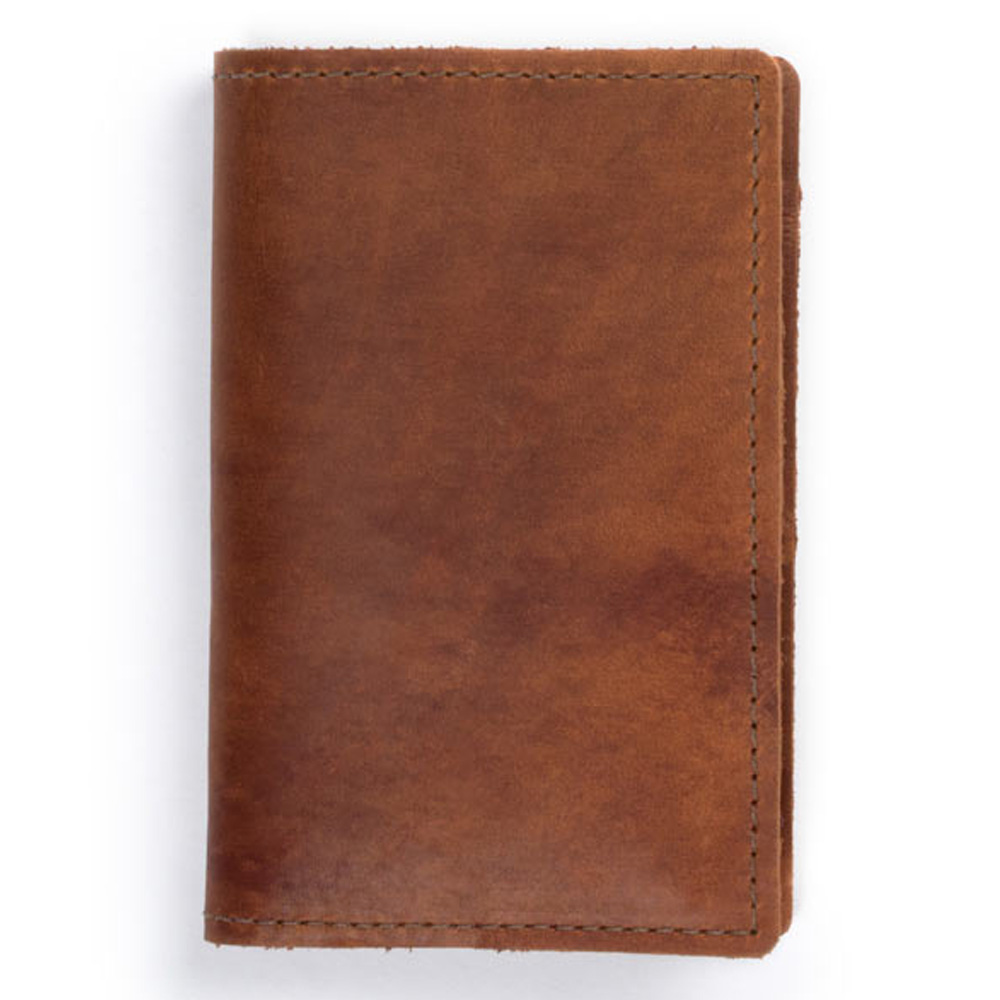 Rustico Field Notebook Leather Saddle Brown