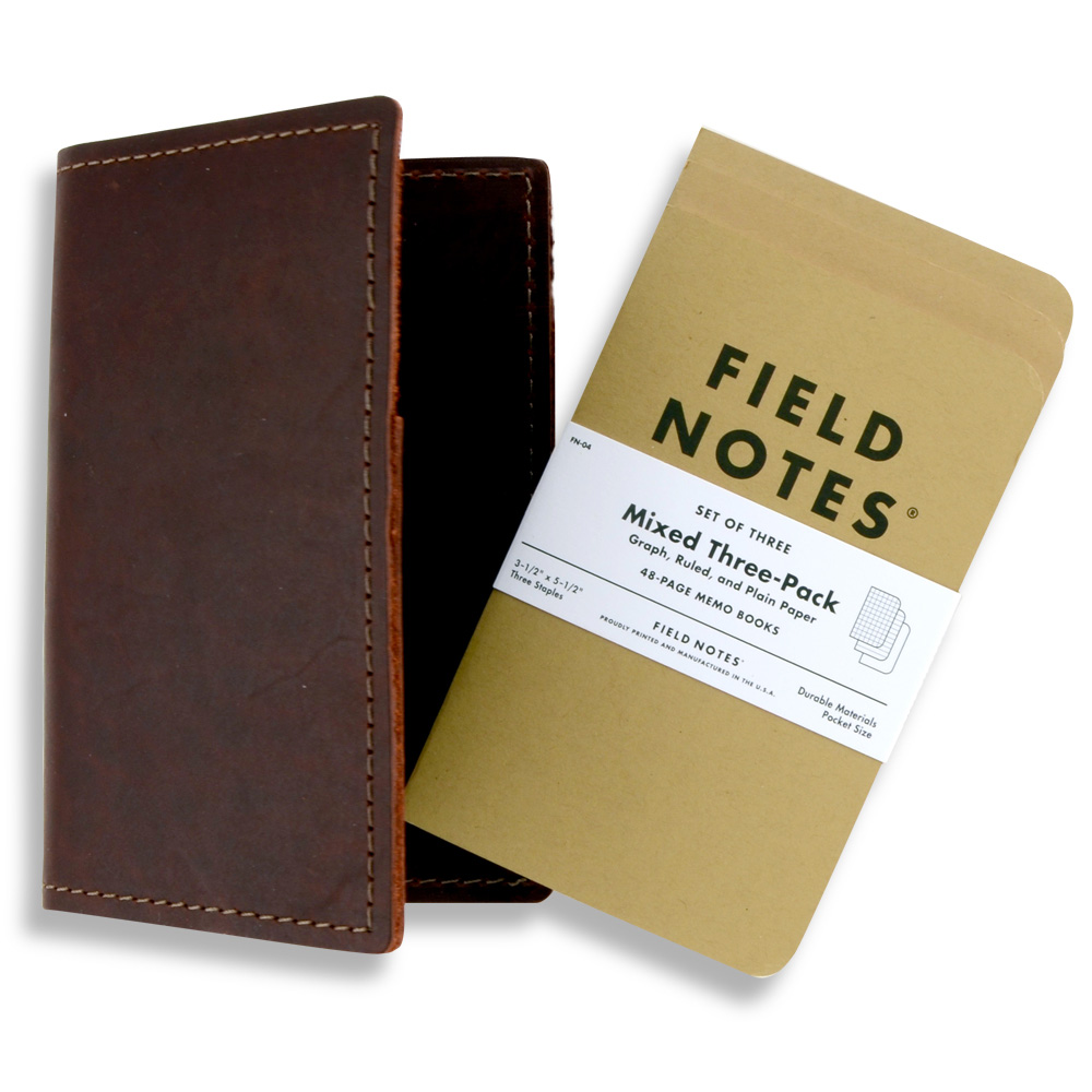 Rustico Field Notebook Leather Burgundy