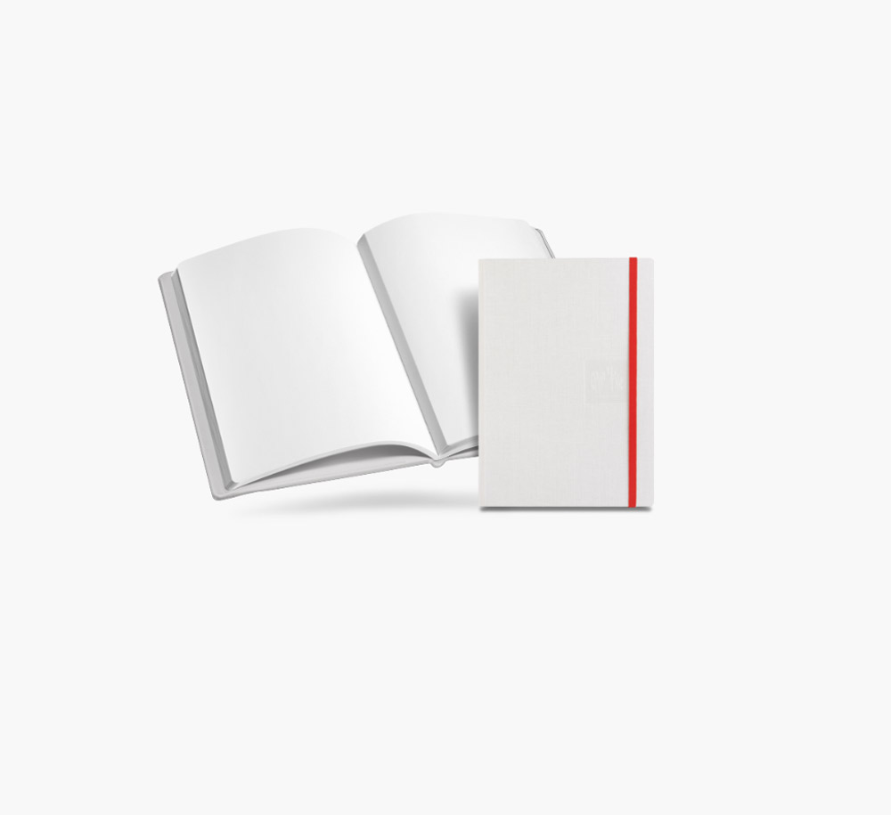 Caran D'ache A5 Notebook Canvas Cvr Wht Blank