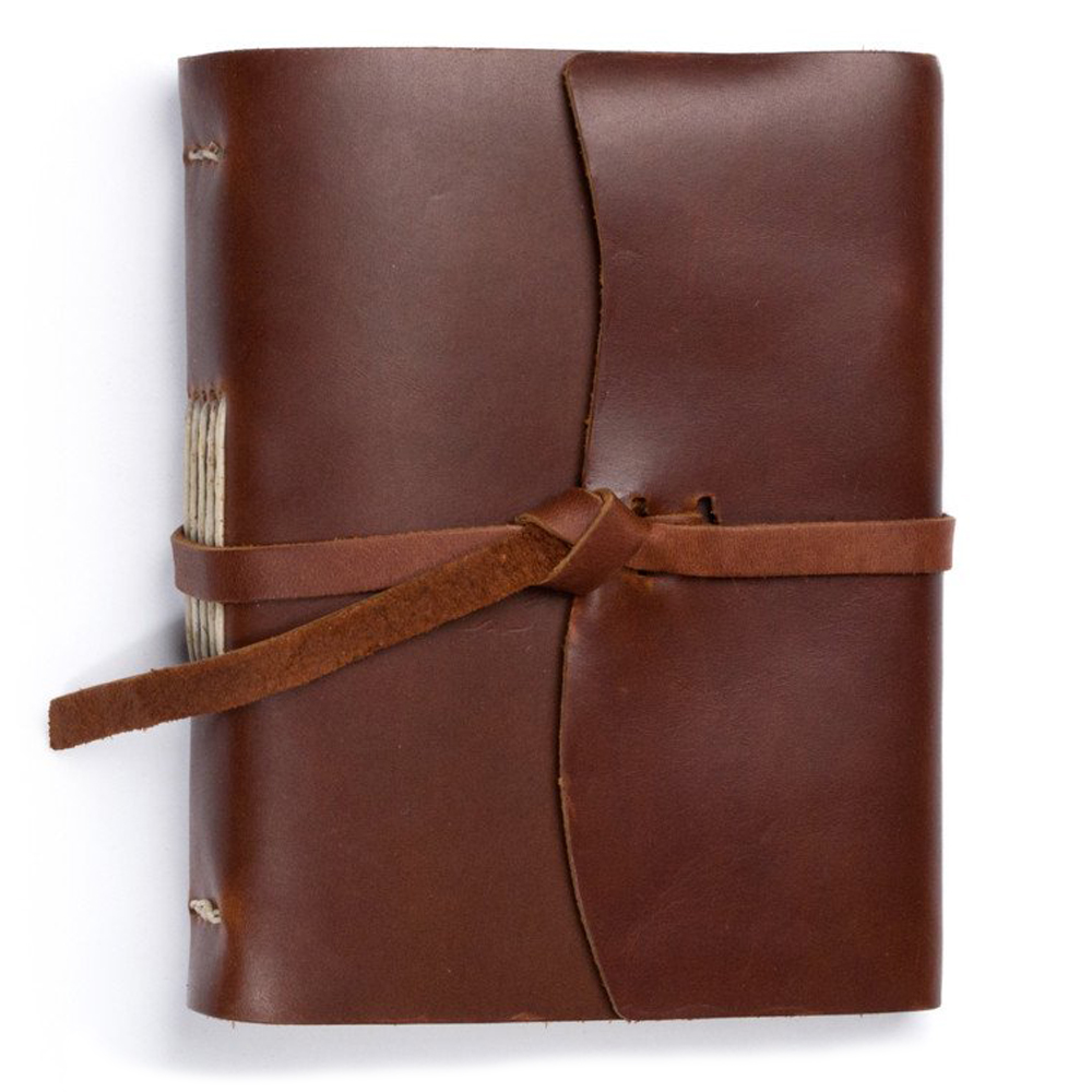 Rustico Leather Good Book w/Wrap Saddle