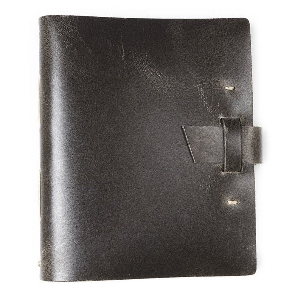 Rustico Traveler Journal w/Buckle Charcoal