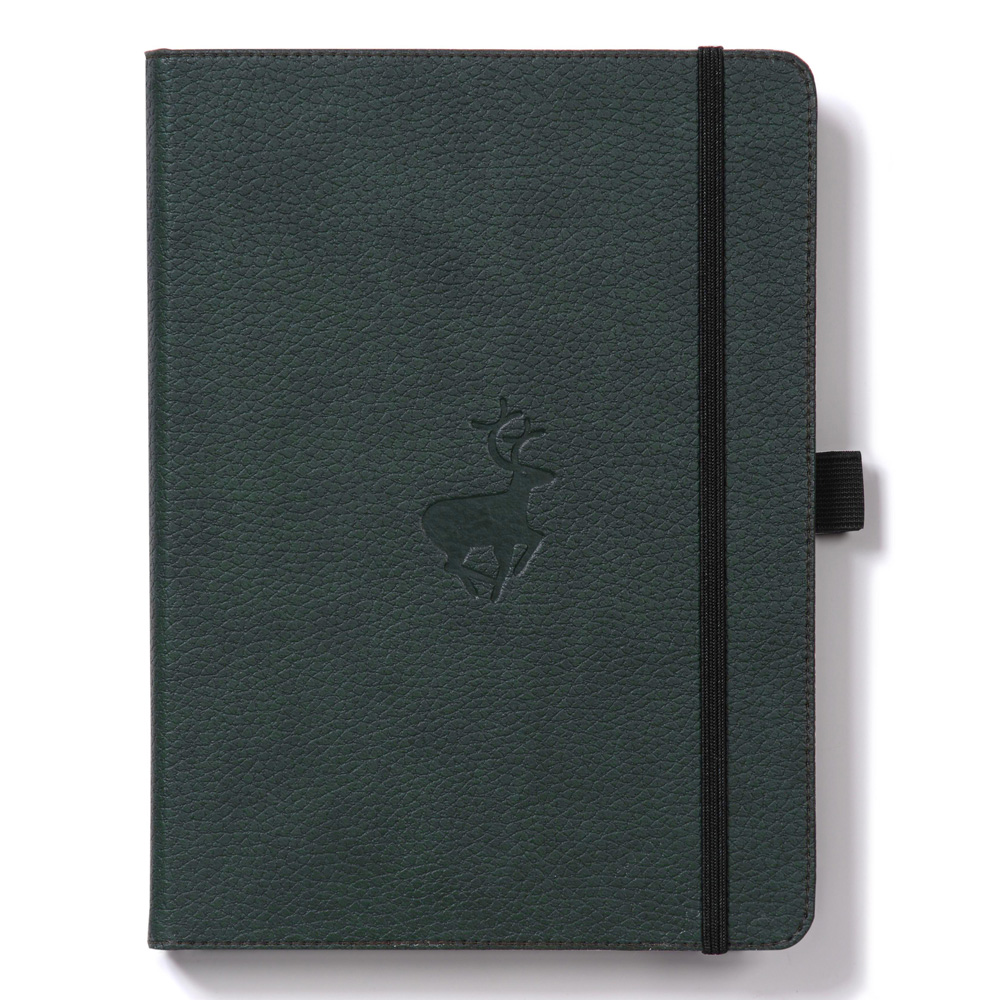 Dingbats A5 Green Deer Notebook Dotted