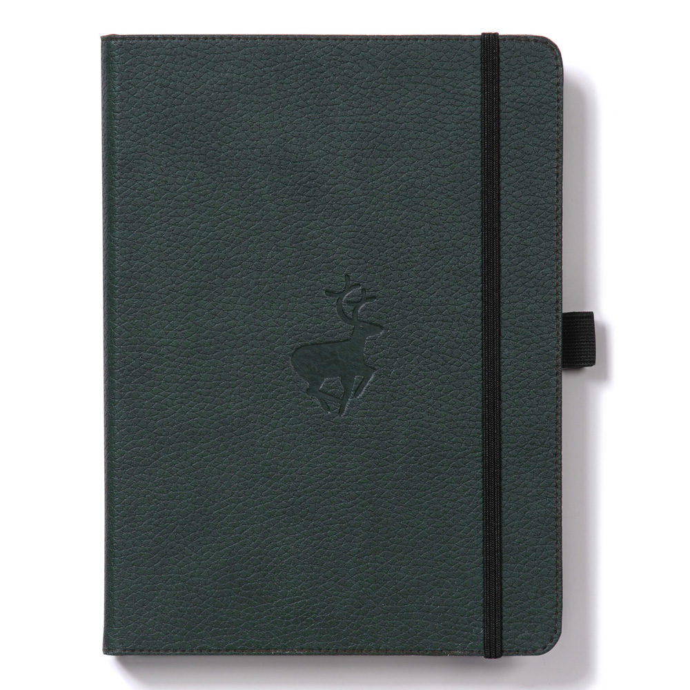 Dingbats A5 Green Deer Notebook Plain