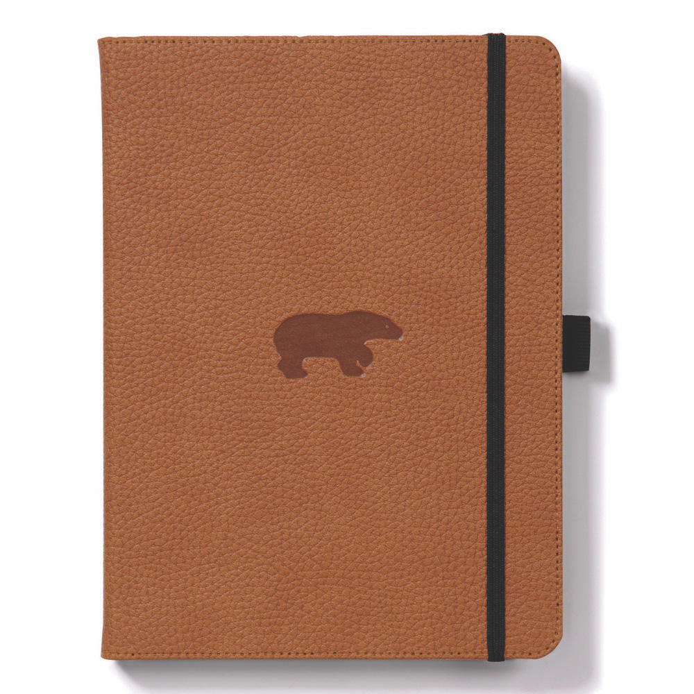 Dingbats A5 Brown Bear Notebook Plain