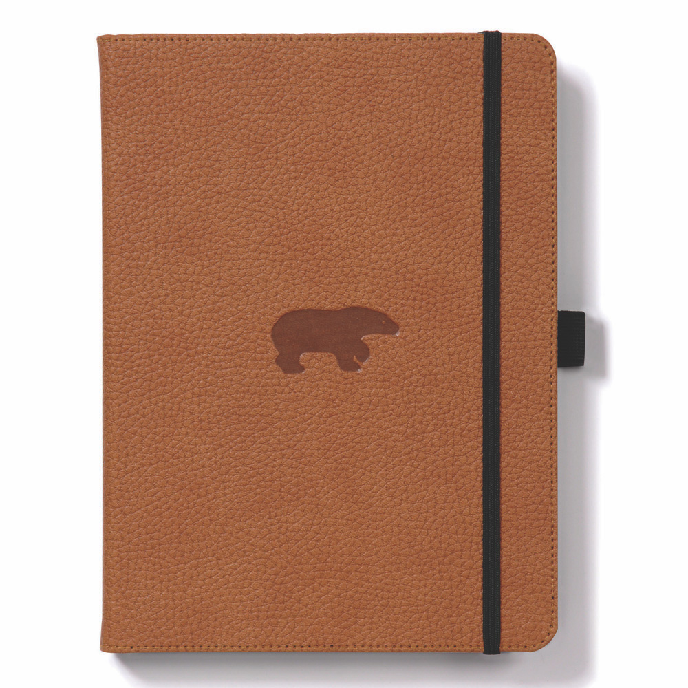 Dingbats A5 Brown Bear Notebook Graph