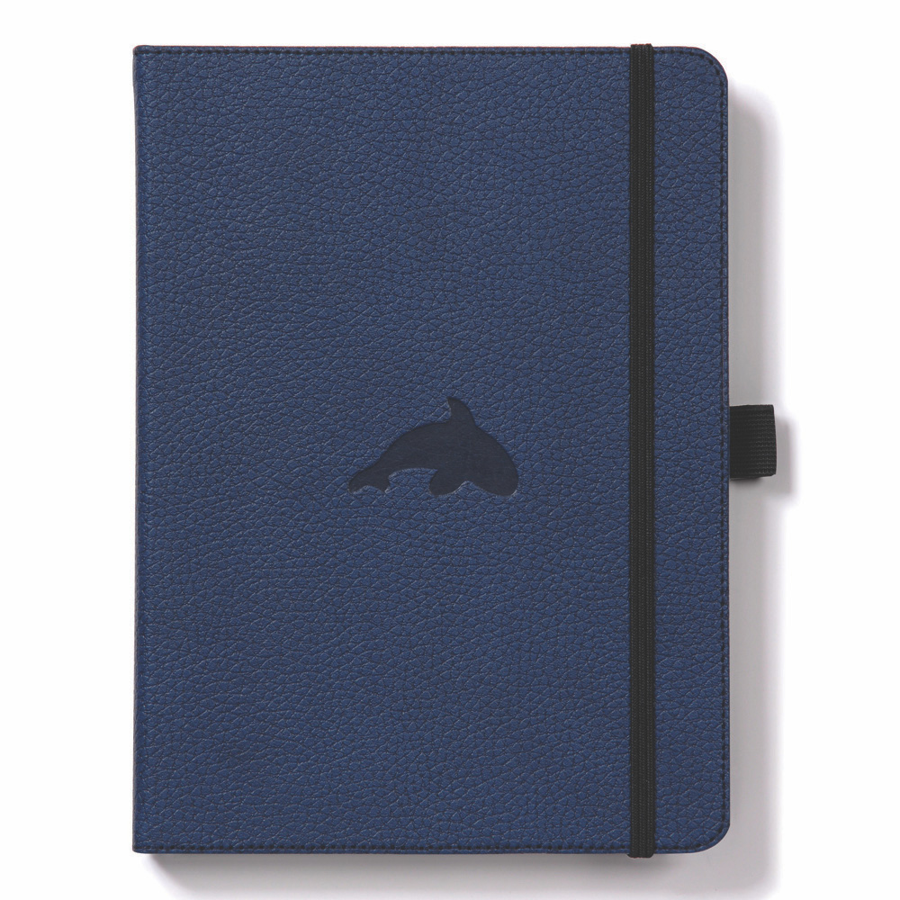 Dingbats A5 Blue Whale Notebook Lined