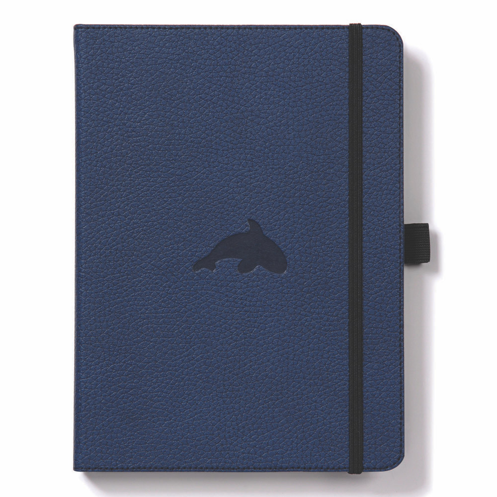 Dingbats A5 Blue Whale Notebook Dotted