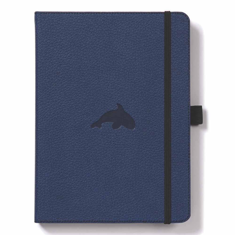 Dingbats A5 Blue Whale Notebook Plain