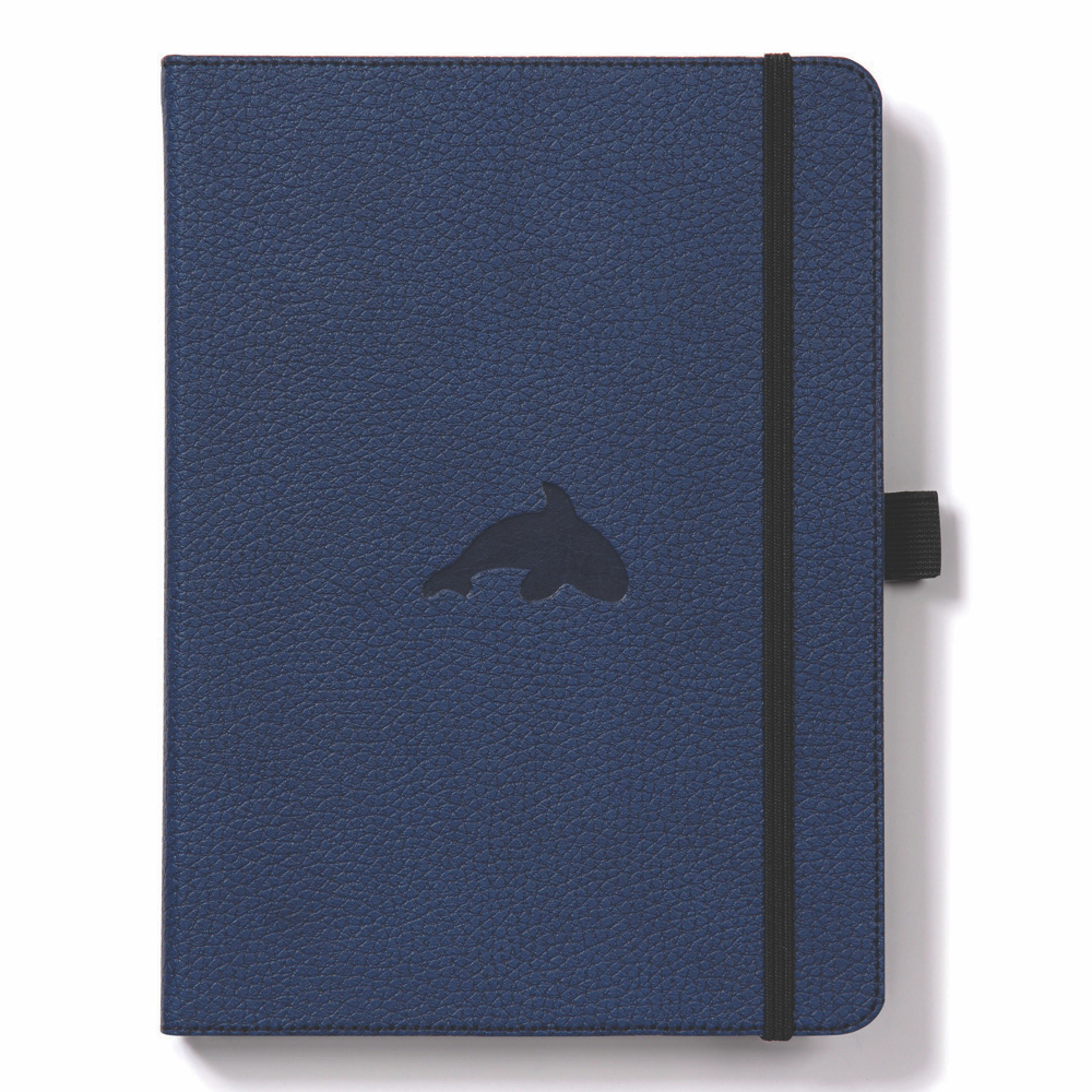 Dingbats A4 Blue Whale Notebook Dotted