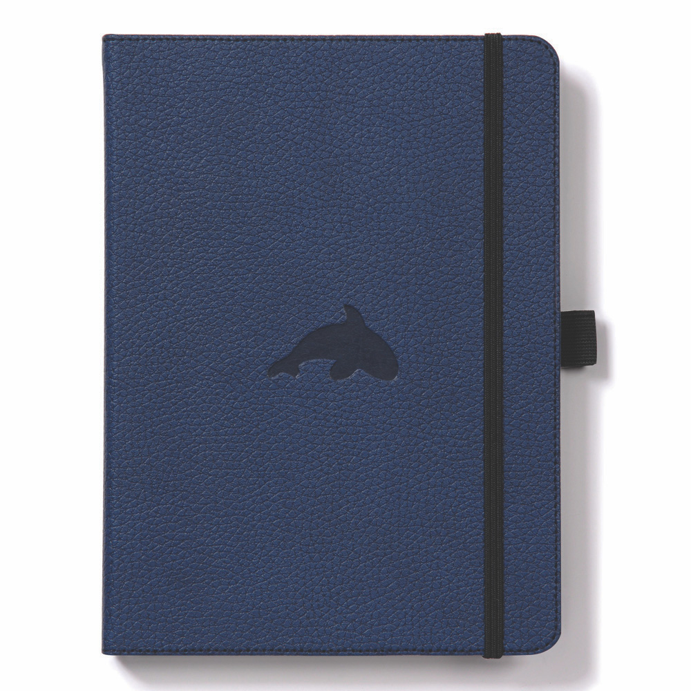 Dingbats A4 Blue Whale Notebook Plain