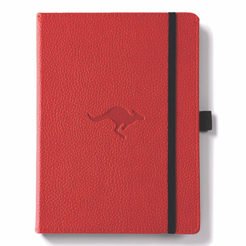 Dingbats A5 Red Kangaroo Notebook Plain
