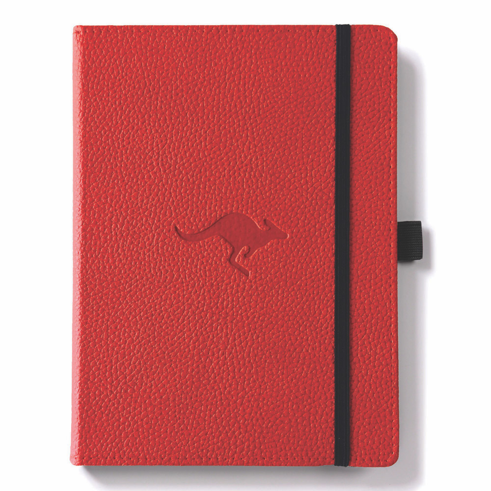 Dingbats A4 Red Kangaroo Notebook Plain