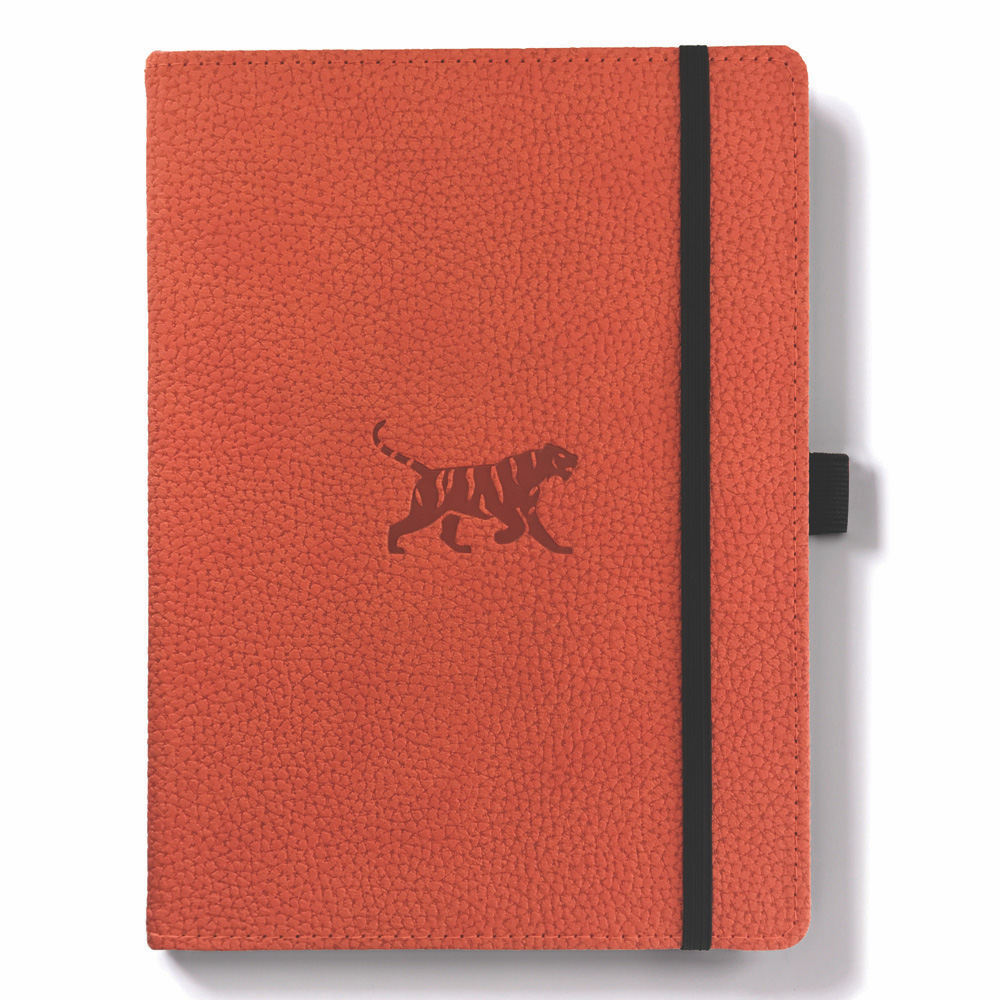 Dingbats A5 Orange Tiger Notebook Dotted