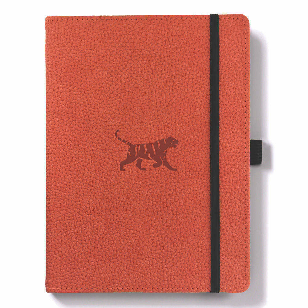 Dingbats A5 Orange Tiger Notebook Graph