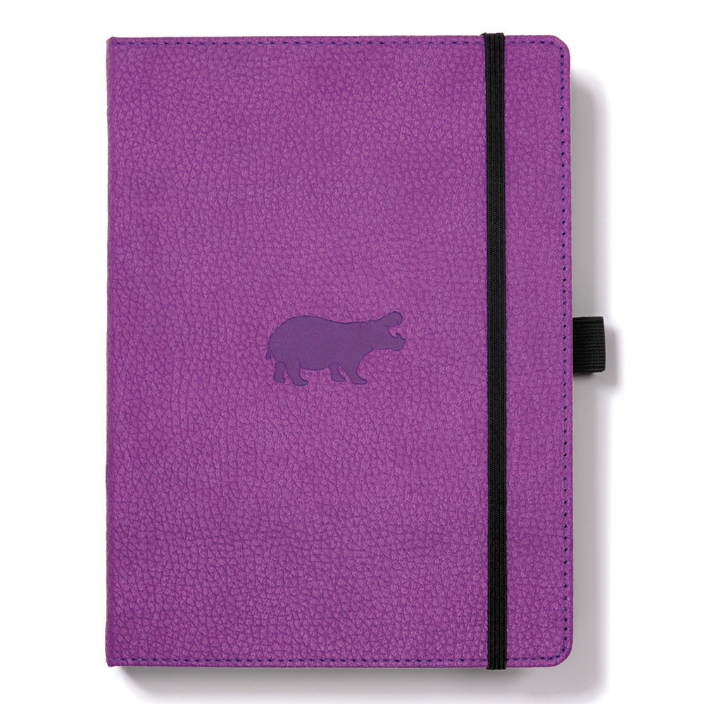 Dingbats A5 Purple Hippo Notebook Lined