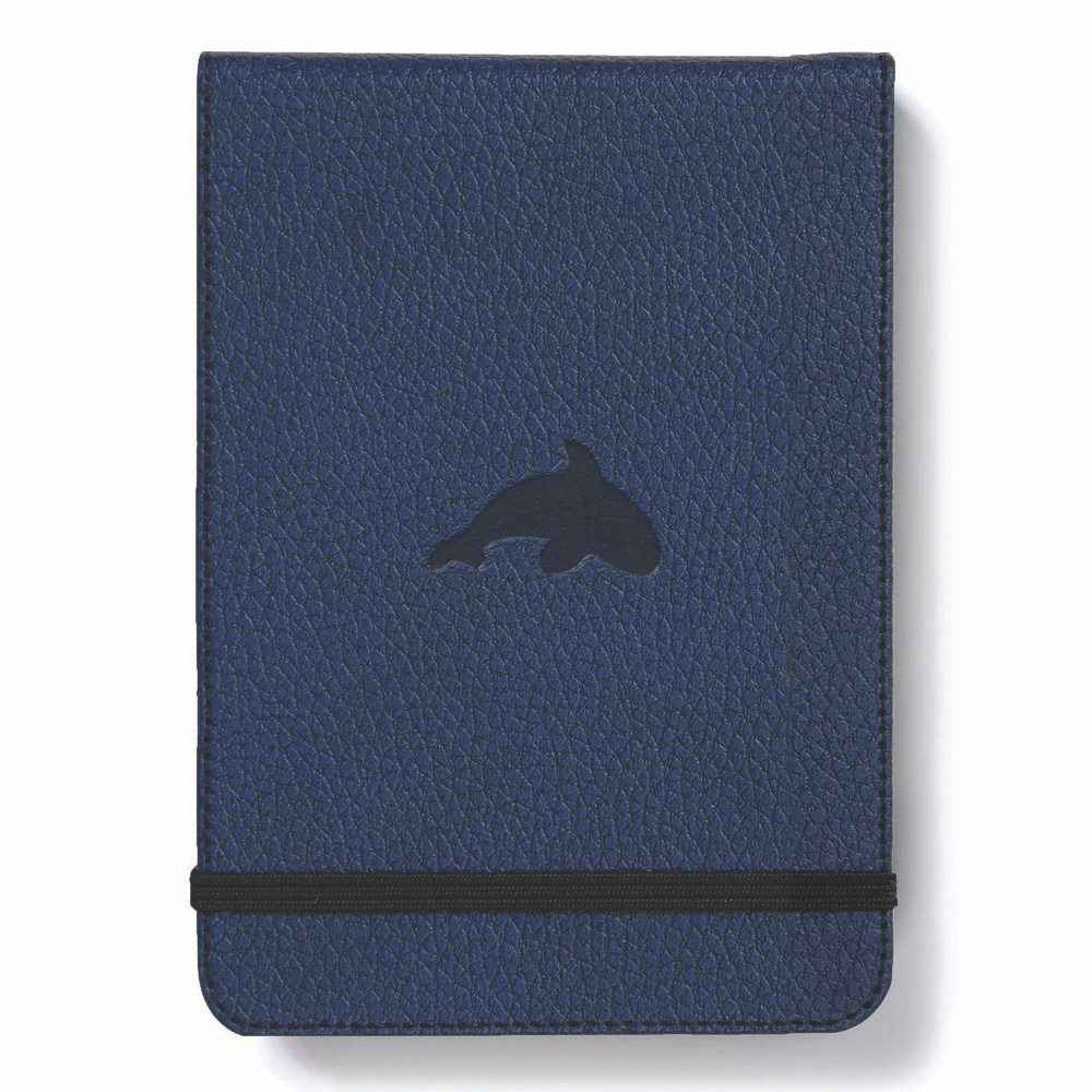 Dingbats Blue Whale Reporter Notebook Dotted