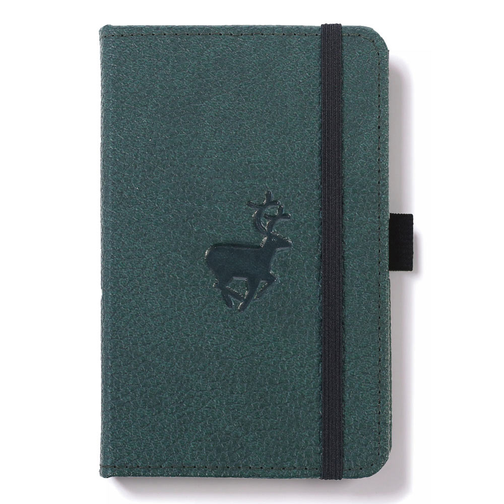 Dingbats A6 Green Deer Notebook Lined