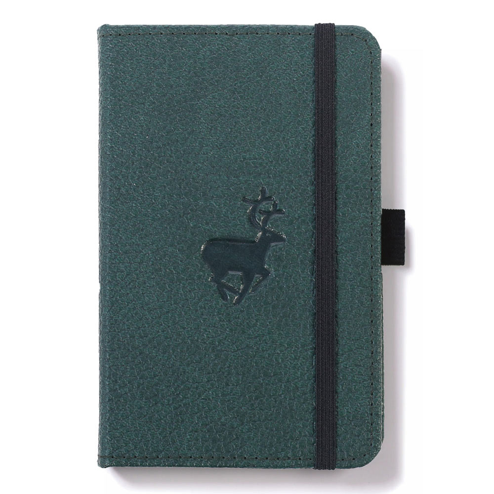 Dingbats A6 Green Deer Notebook Plain