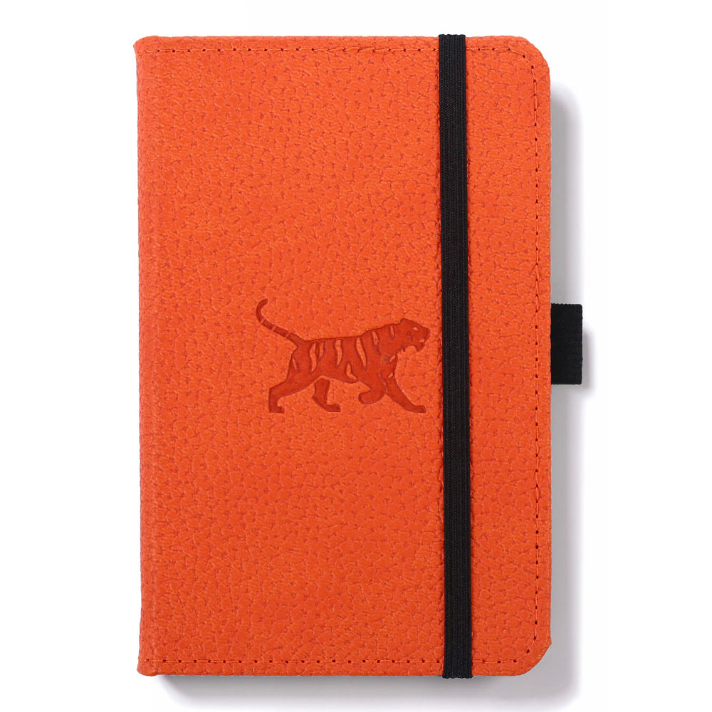 Dingbats A6 Orange Tiger Notebook Dotted