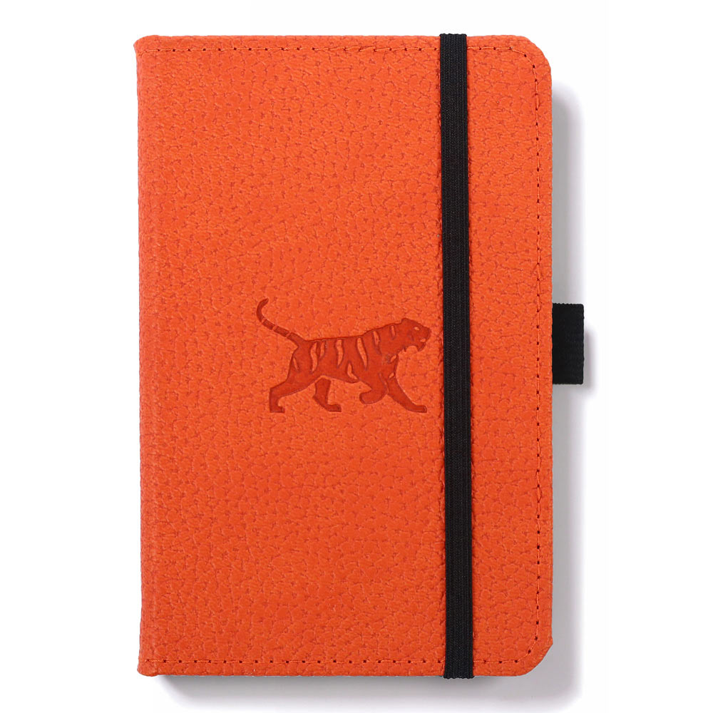 Dingbats A6 Orange Tiger Notebook Plain