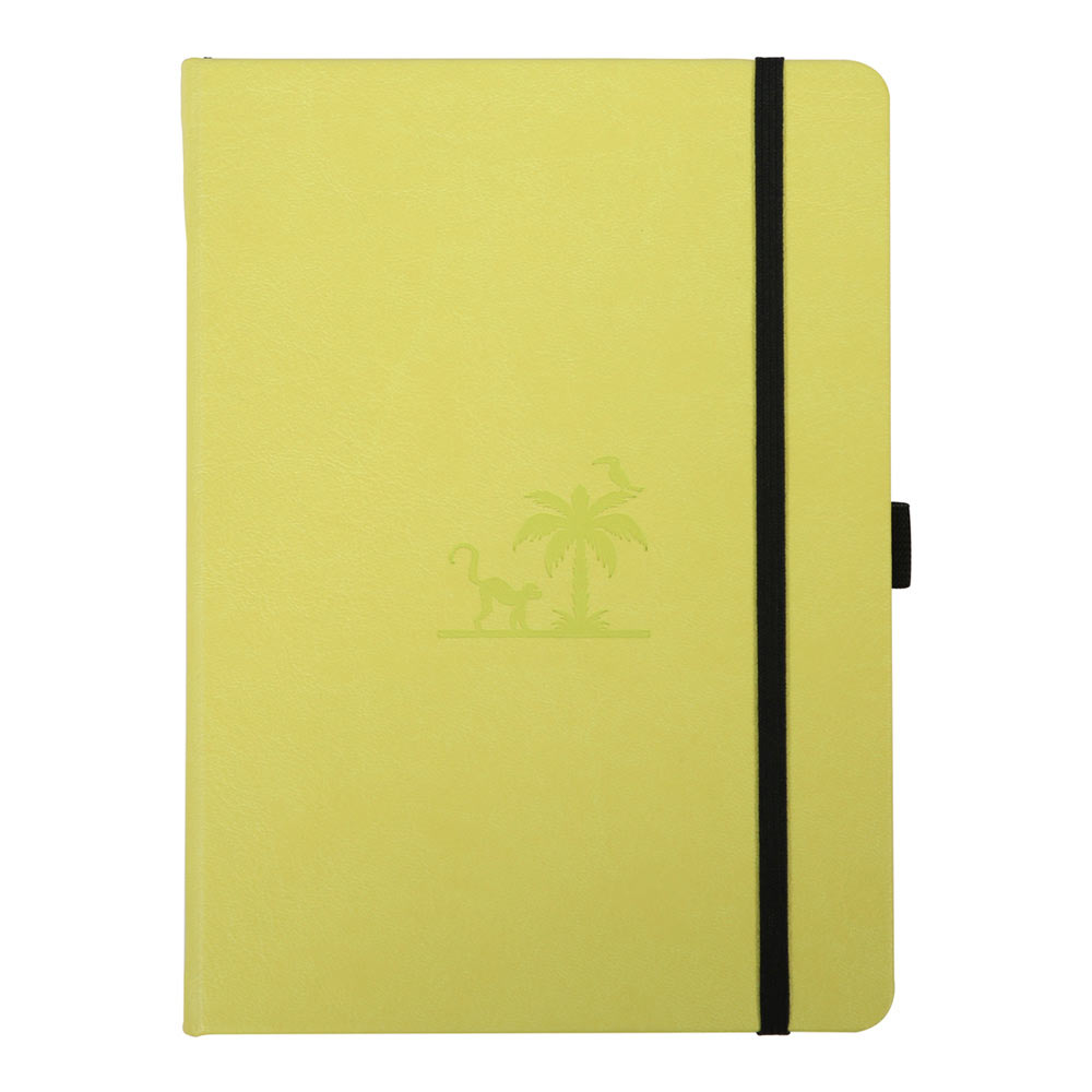 Dingbats A5 Lime Yasuni Notebook Dotted