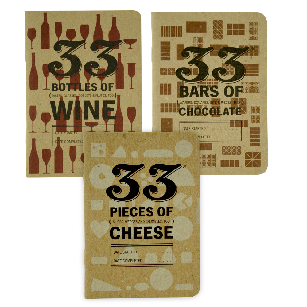 33 Books: Sophisticated Tasting Journal 3Pk
