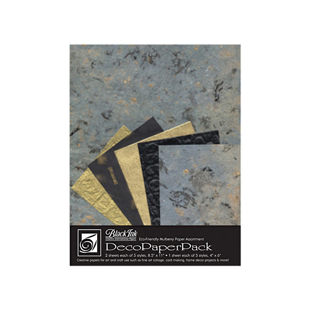 Black Ink Deco Paper Pack Blue Storm