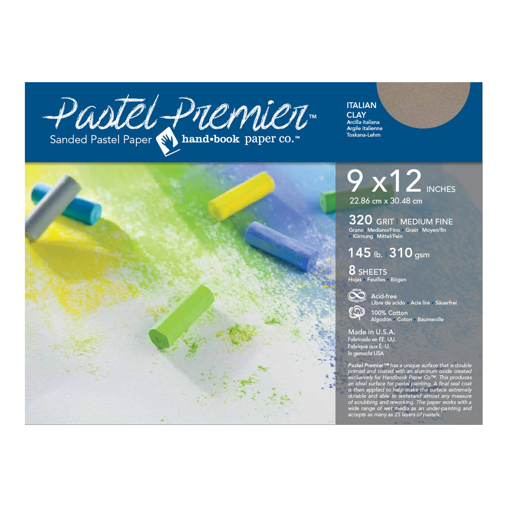 Pastel Premier Paper Ital Clay 9X12 8-Sheets