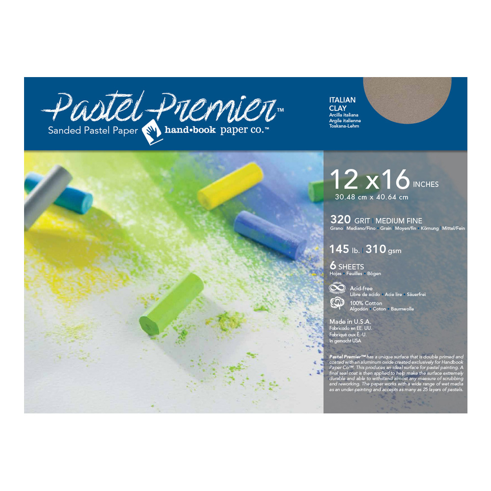 Pastel Premier Paper Ital Clay 12X16 6-Sheets
