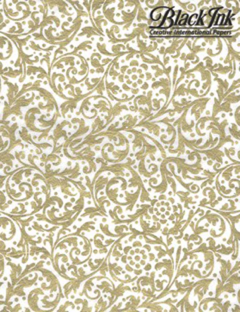 Paper Thai Elegance Gold/White 25X37