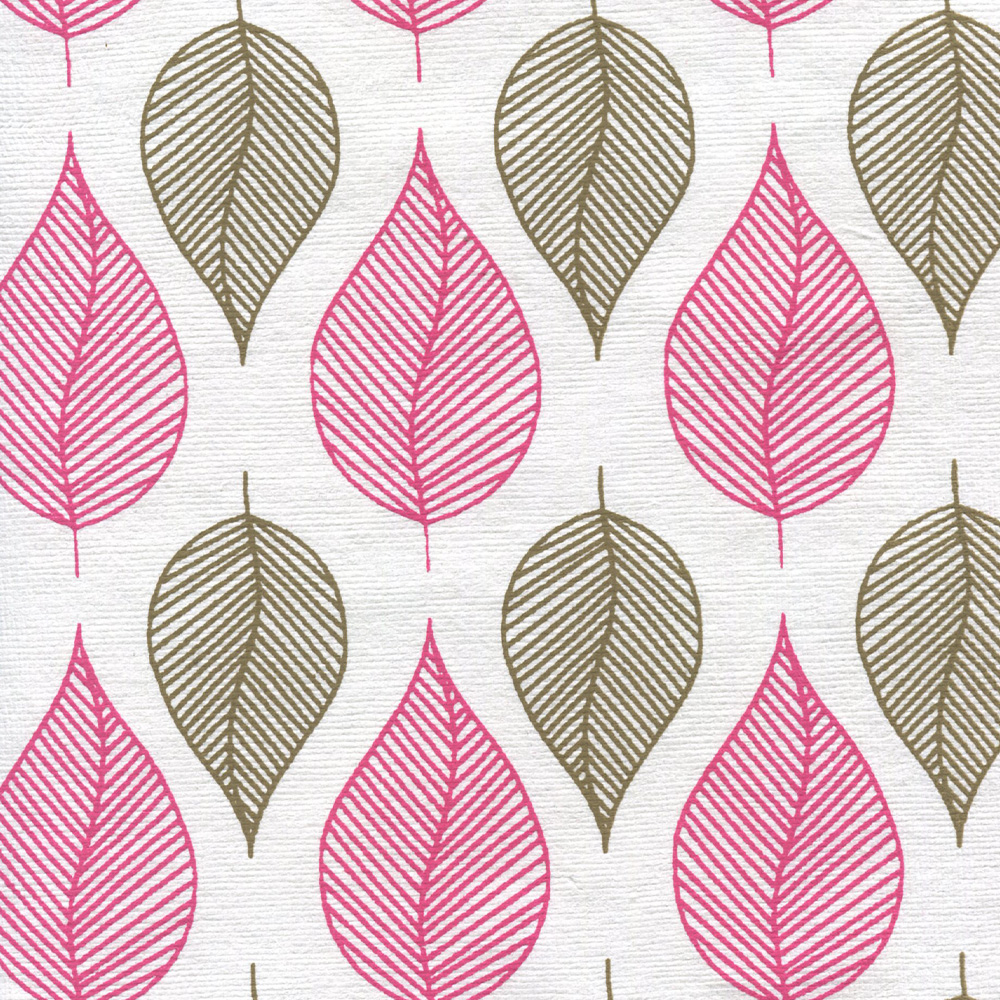 Paper India Pepal Leaves Plum 21X29 Inch