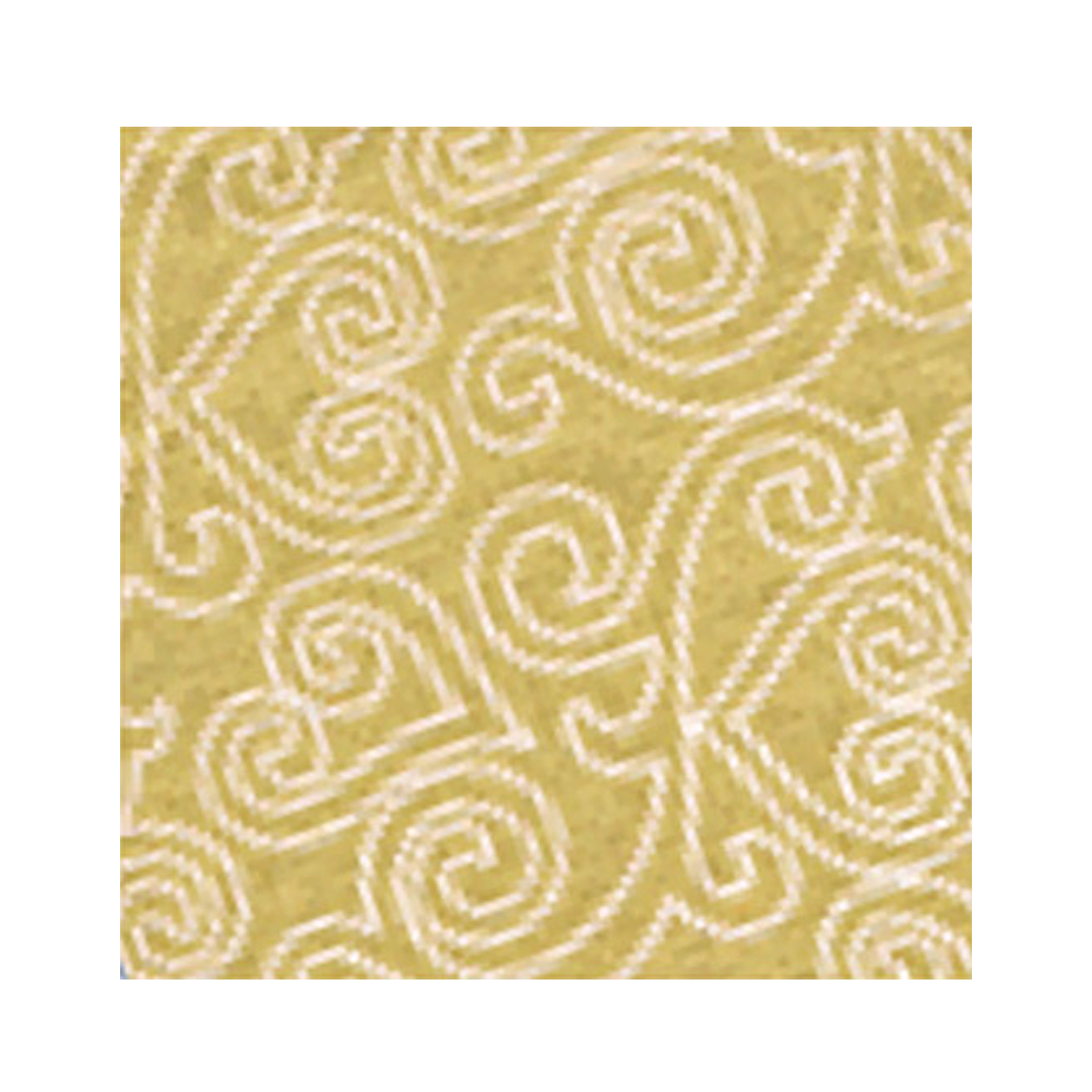 Paper India Flocked Heart White/Gold 21X29
