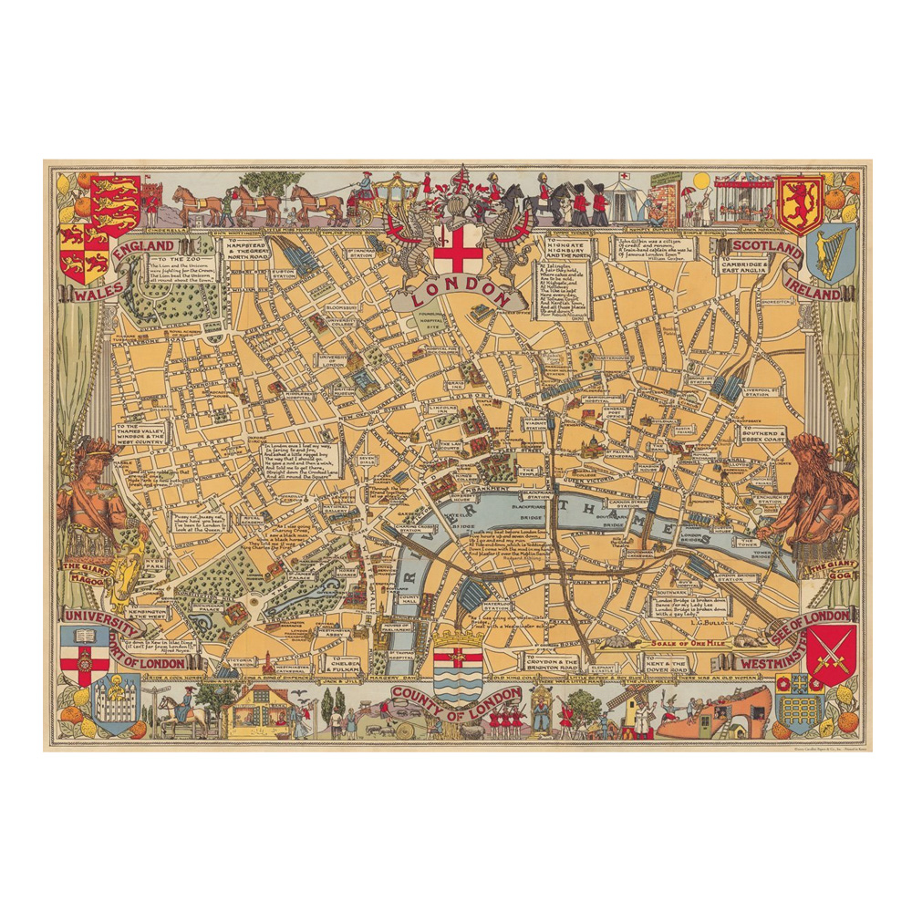 Decorative Wrap 20X28 London Map