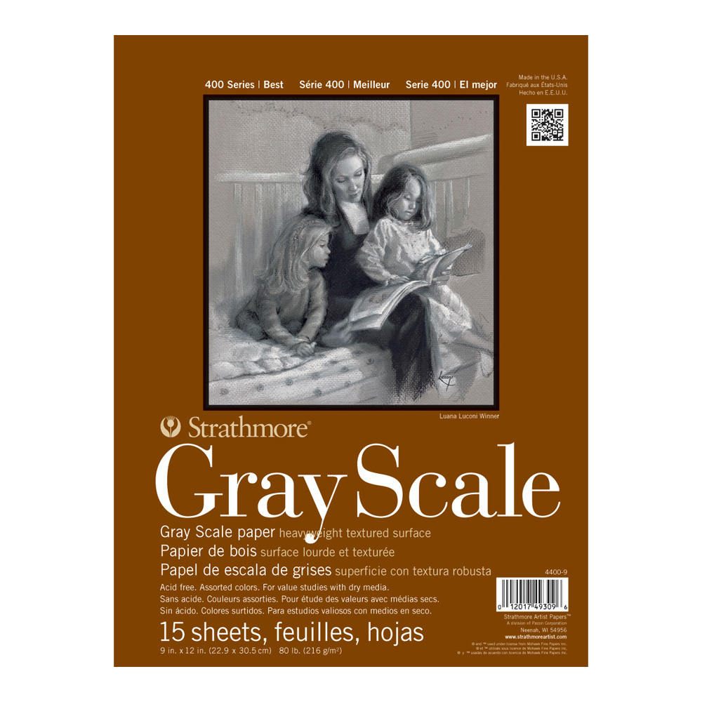 Strathmore 4400 Gray Scale Pad 9X12