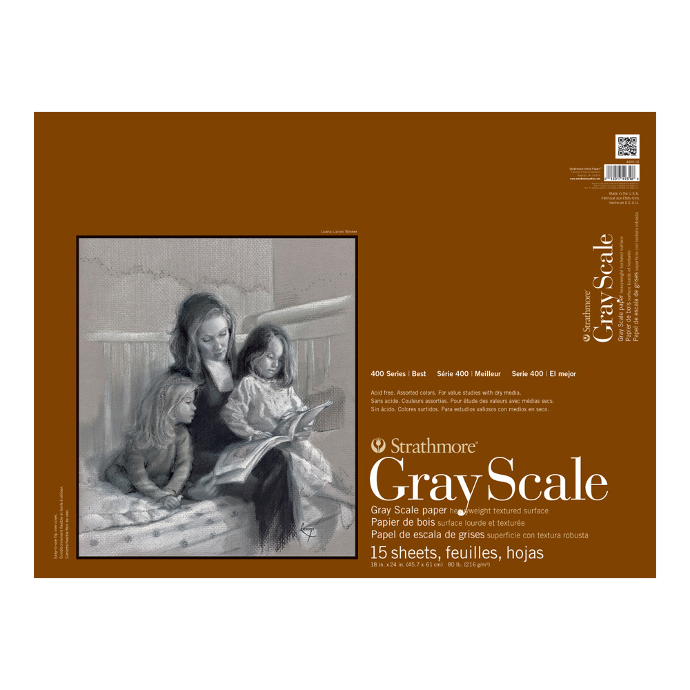 Strathmore 4400 Gray Scale Pad 18X24