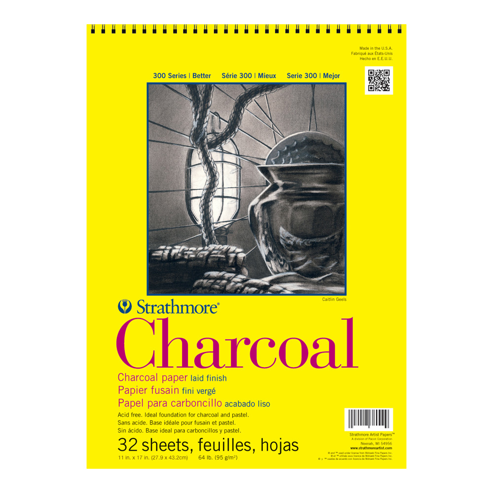 Strathmore 300 Charcoal Pad White 11X17 Wire