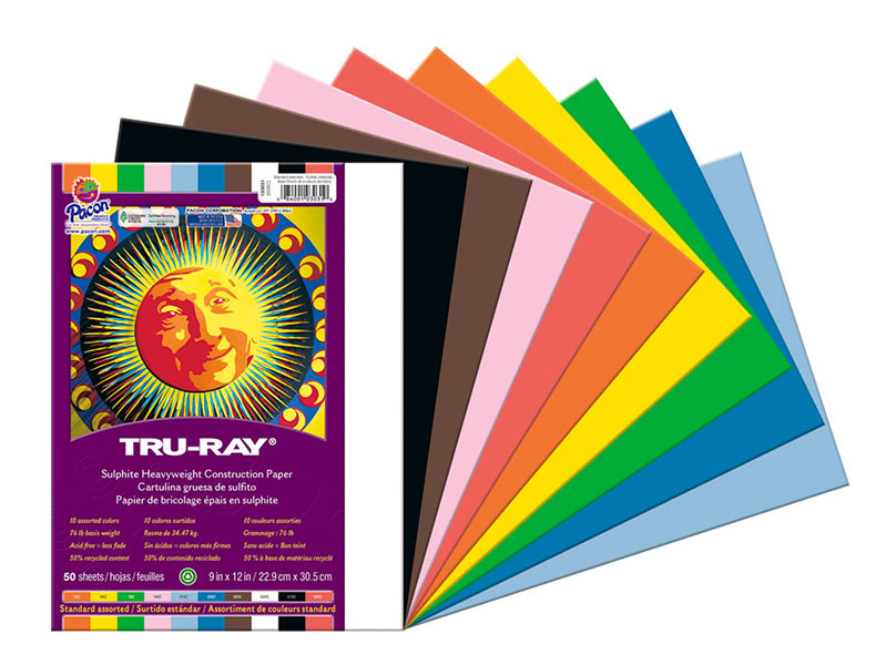 Construction Paper 9X12 Assorted Colors