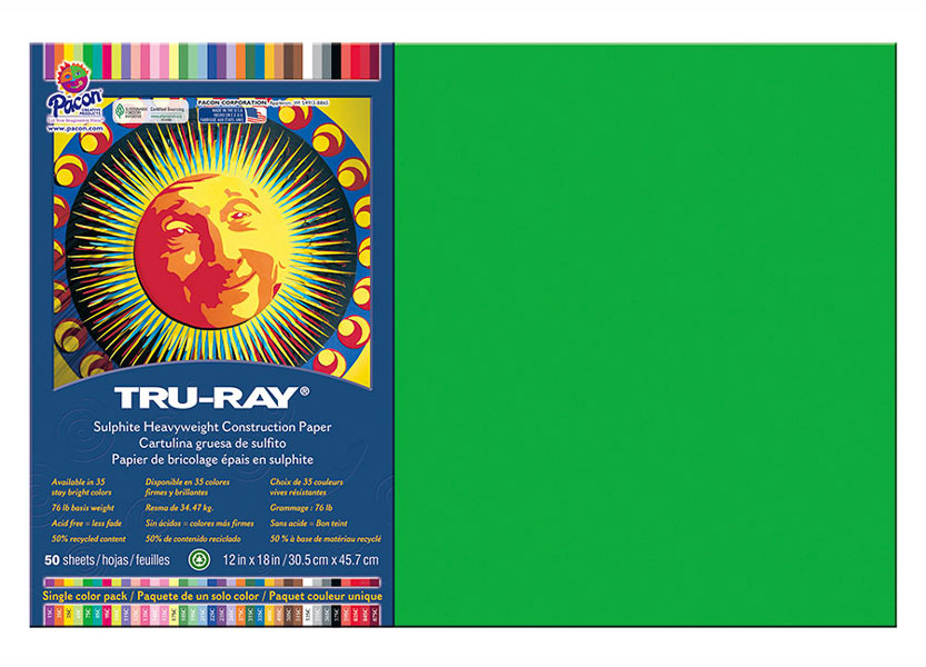 Construction Paper 12X18 Green 50 Sheets