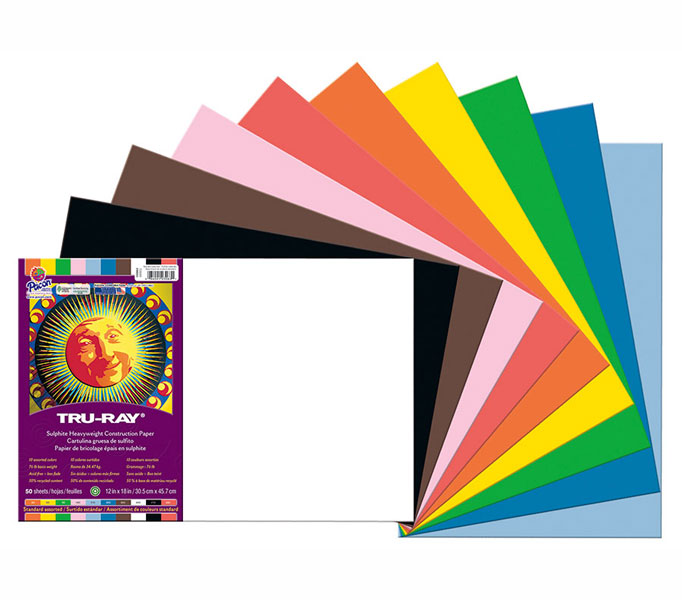 Construction Paper 12X18 Asst Colors 50 Sheet