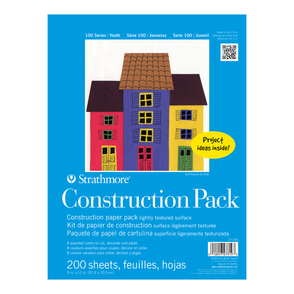 Strathmore Kids Construction Paper 200Pk 9X12