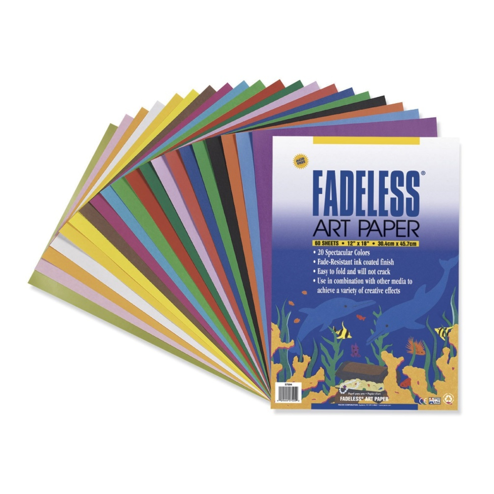 Fadeless Colored Paper Assorted 12X18