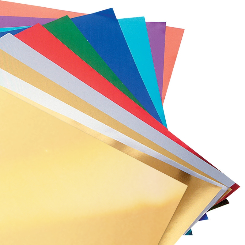Metallic Foil Board Assorted Colors 8.5X11