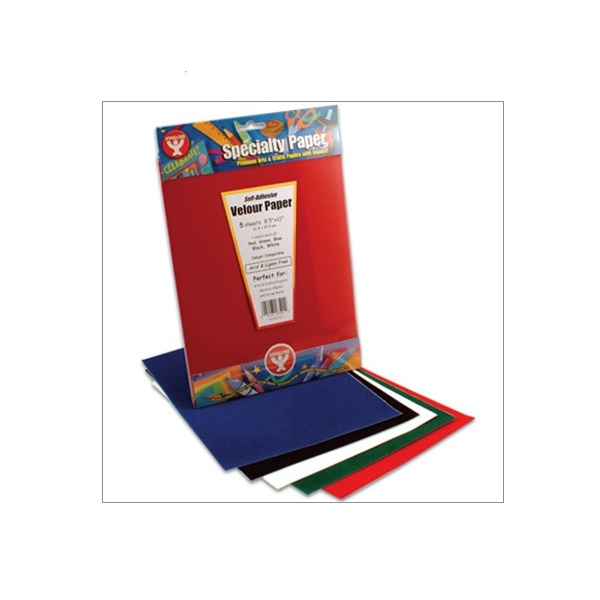 Velour Board Assorted Colors 8.5X11