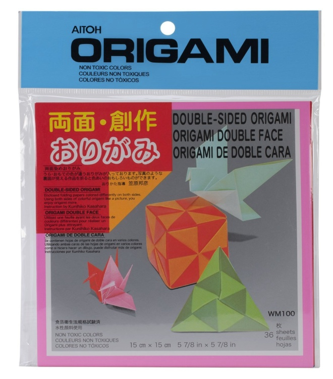 Origami Paper Double-Sided Color 6X6 36/Sheet