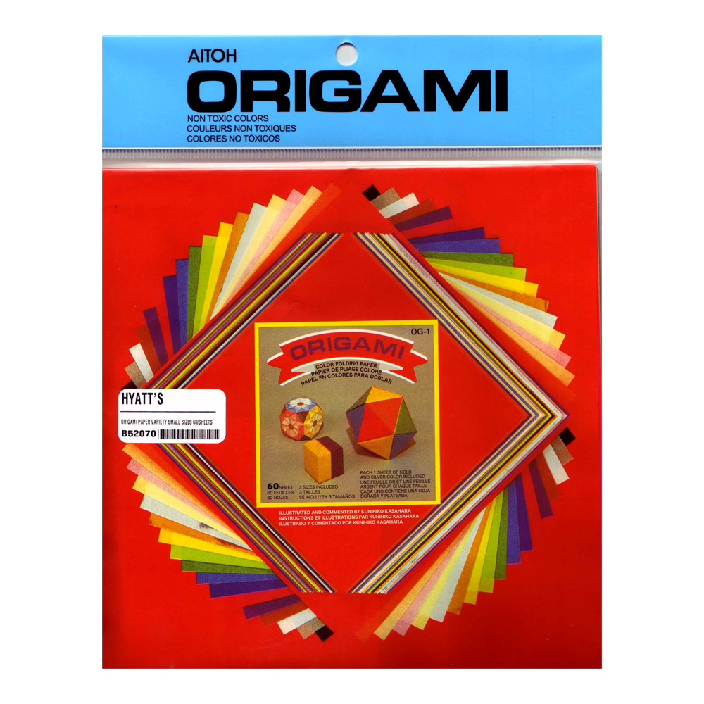 Origami Paper Variety Small Sizes 60/Sheets