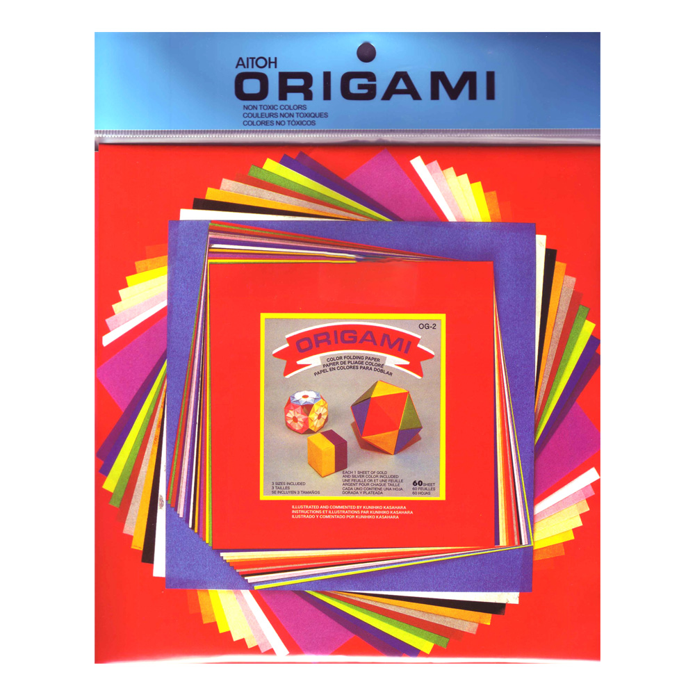 Origami Paper Variety Medium Sizes 60/Sheets