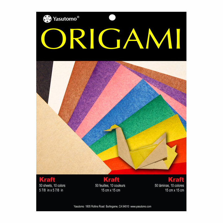 Origami Paper 4343 Kraft Assort 50/Pk 6X6 In