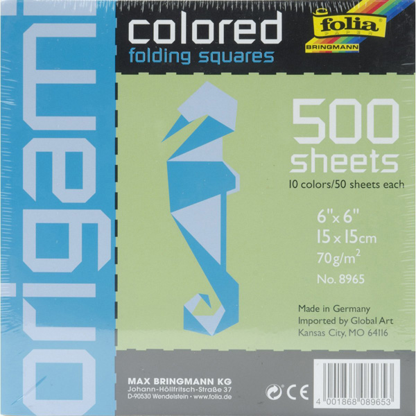 Folia Origami Paper 6X6 Assorted 500 Pkg