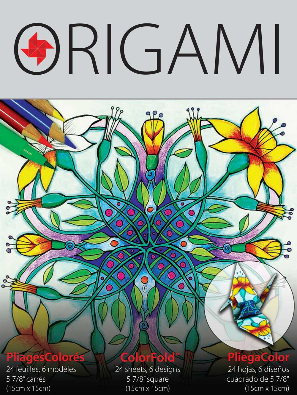 Yasutomo Color-2 Origami 24 Sheets 5-7/8In
